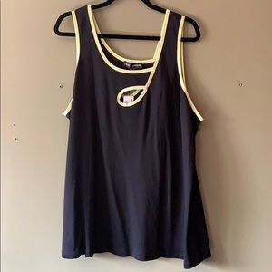 NWT - Athletic/tank top with front peephole detail